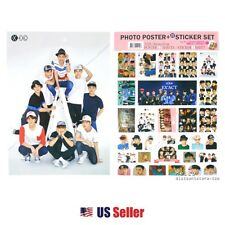 Kpop EXO High Quality Official Photo Poster & Sticker Set #7 : Various 12 Sheets