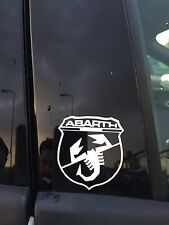 2x FIAT ABARTH STICKER SHIELD SCORPIAN PUNTO EVO 500 Grande PUNTO 595  X2 PAIR