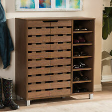 Wholesale Interiors Baxton Studio Beppe 18-Pair Shoe Storage Cabinet