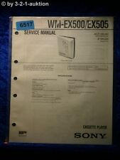 Sony Service Manual WM EX500 /EX505 Cassette Player (#6517)