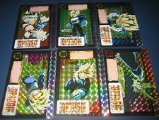 DRAGON BALL Z CARDDASS PART 13 FULL SET 6  PRISM CARDS