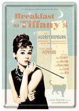 Audrey Hepburn Breakfast Blechschild 10x14 cm Blechkarte 10208 Sign