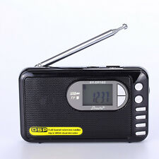 Free Shipping SY-DP182  radio  Portable MP3 Radio FM Stereo/SW/MW DSP