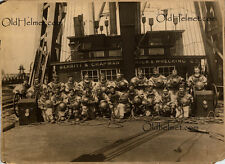AMAZING 21 MAN DIVING CREW PHOTO CIRCA 1916 MERRITT & CHAPMAN POSTER 1st MARK V