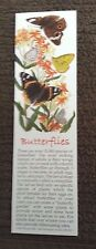 "Book Marker, Butterflies, Wildlife Collectibles, 7"" x 2"", Beautiful Colors"