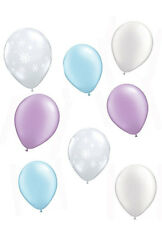 snowflake birthday party balloons, pastel frozen party balloons bouquet, girls