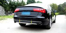 Car Rear Bumper Cover Trim Stainless Steel For Audi A6 C7 2012 2013 2014 2015