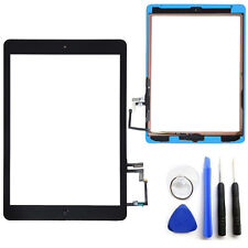 OEM Black Touch Screen Glass Digitizer For iPad Air 5 Adhesive Home Button Tools