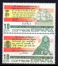 España estampillada sin montar o nunca montada 1985 SG2803-04 el 200th aniversario de la Bandera Nacional