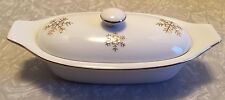 2 pc Gold Snowflake Butter Boat Gilt Winter Christmas Porcelain Cook Street