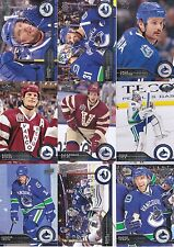 2014-15 Upper Deck Vancouver Canucks Complete Series 1 & 2 Team Set - 12 Cards