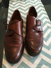 JOHNSTON AND MURPHY PASSPORT  MONK STRAP  SHOES 43 10  Italy GOOD CONDITION