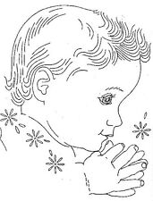 Vintage Embroidery Transfer repo 832 Baby Faces for a Quilt or Nursery Pictures