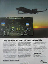10/89 PUB ALLIED SIGNAL BENDIX KING TTTS LEARJET 31 ATC EFIS ORIGINAL AD