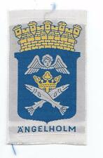 Ängelholm Skåne Scania Province Sweden Old Woven Travel Patch Heritage Crest