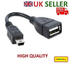 High Quality USB A 2.0 Female to Mini  USB B Male Adapter Date Cable - UK SELLER