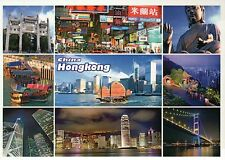 Hongkong China, Harbor, Ship, Boats, Buddha, Bridge, Street View, etc - Postcard