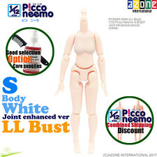 AZONE PCN006-SWH 1/12 Picco Neemo S LL Bust Body Joint enhanced White Doll NEW