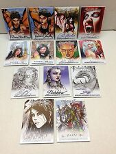 WORLD OF FANTASY (Breygent) Z-CARD AUTOGRAPH SET: ALL 13 DIFFERENT SIGNED CARDS