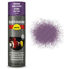 x2 Industriel Rust-Oleum Rouge Lilas Peinture En Aérosol Solide Chapeau 500ml