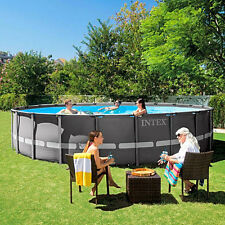 Intex 22 x 52 Ultra Frame Above Ground Swimming Pool with Filter Pump