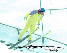 Eddie The Eagle EDWARDS Ski Jumping Olympic Legend SIGNED 10x8 Photo AFTAL COA