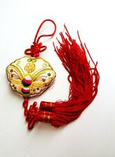 "13"" Feng Shui Chinese Oriental Lucky Money Wealth Gold Coins Charm Wall Tassel A"