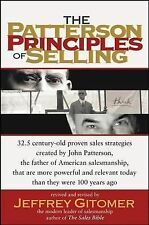The Patterson Principles of Selling by Jeffrey Gitomer (2004, Hardcover)