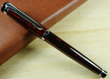 Baoer 508 Fountain Pen , Medium Nib Size , Flash Red and Silver Trim