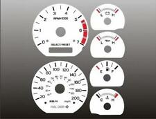 1999-2004 Ford Mustang METRIC KMH KPH Dash Cluster White Face Gauges
