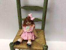 Miniature Dolls, Doll, Pink Dress, OOAK,B Justice