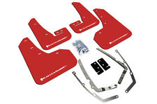 Rally Armor Mud Flaps Guards for 15+ VW Golf/GTI MK7 MKVII (Red w/White Logo)