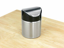 Judge Cocina Escritorio De mesa Acero Inoxidable Pulido Mini Cubo Basura TC244