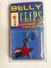 Fake Illusion Belly Ring - Red Shooting Star - No Piercing Needed (496)