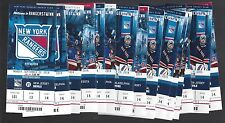 2014-2015 NHL NEW YORK RANGERS SEASON FULL UNUSED TICKETS LOT - ALL 41 TIX