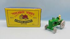 18410 MATCHBOX / REEDITION 1988 / N°4 TRACTEUR MASSEY HARRIS VERT