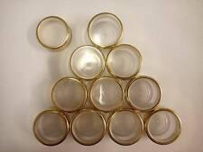 50 X 5 gramos de plástico Frascos + Borde De Oro Tapas cosméticos / viajes / Craft / Medicina