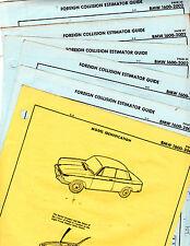 BMW 1602 2002 BODY PARTS LIST CRASH SHEETS RARE ORIGINALS MF