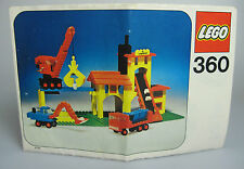 LEGO® Bauanleitung 360 Kieswerk ungelocht von 1974 BA Anleitung Stadt