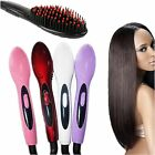Hot Hair Straightener Comb Electric Auto Temperature Control Iron Brush Massager