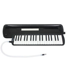 New 37 Key Black Melodica Pianica Keyboard Mouthpiece Music Instrument + Bag