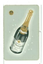 """Single Playing Card, """"Dry Monopole"""" Champagne"""