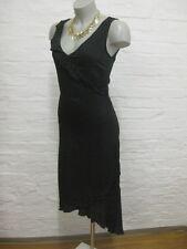H&M schönes Sommer Kleid Gr.Eur.34 Schwarz+Weis fein gepunktet Dots Assymetrisch