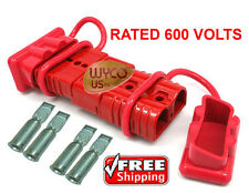 600V WINCH QUICK CONNECTOR PLUGS, DISCONNECT PLUGS FOR 4 GAUGE WIRE, DUST COVERS