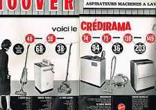 PUBLICITE  1963   HOOVER  lave linge lave vaisselle aspirateur (2 pages)