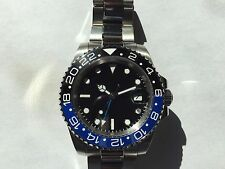 "Parnis Automatic Stainless Steel Sapphire Crystal GMT Master II ""Batman"" Homage"