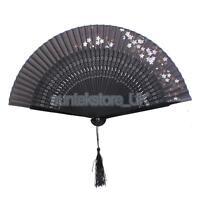 Flower Hand Fan Chinese Bamboo Japanese Folding Fan Asian Pocket Fan Decor
