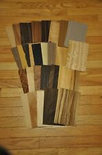 "Wood Veneer Sample Pack-At least 23 different kind, 2 sheets each (5""x8"")  IC27"