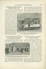 1918 Magazine Article Halifax England Kitchen in Tram Trolley Served Food RR