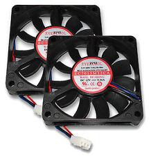 Lot of 2 Qty. Evercool EC7015M12CA 70mm x 70mm x 15mm 3 Pin Tachometer CPU fans